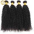 Adina Hair Products Brazilian Virgin Hair Kinky Curly 4pcs Bundles Curly Unprocessed Virgin Brazilian Hair Afro Kinky Curly Hair