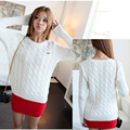 2016 de la moda de primavera h bordado california gaviota giro suéter estilo preppy o-cuello del suéter del suéter femenino