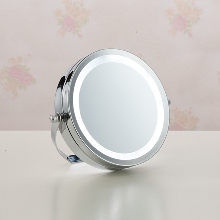 NEW 6 Inch LED Cosmetic Makeup Mirror 5X Magnifying LED Light Illuminated  Rotation Table Stand Mirror Make Up Tools