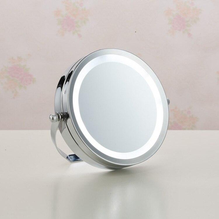 nueva pulgadas led x de aumento de luz led iluminado espejo de maquillaje cosmtico rotacin