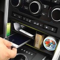 Acessórios Interiores do carro de Plástico de Alta Qualidade Multifunction Caixa De Armazenamento Do Console Central para a Descoberta de Land Rover Sport 2015-2018
