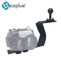 Mcoplus Single Arm Aluminium Diving Handle Stabilizer for Underwater Camera Housings for Canon Nikon Sony Fujifilm A5000 G11/12