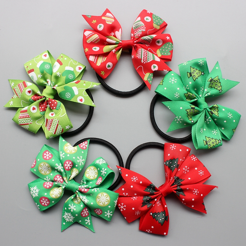 Kid Boutique Grosgrain Ribbon Colorful Hair Bow ring