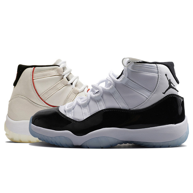 hot sale online 6369c 6c4a9 US $63.12 53% OFF|Gym Red Jordan retro 11 XI Men Basketball Shoes win like  82 96 Cap and Gown Bred high Bred Athletic Outdoor Sport Sneakers-in ...