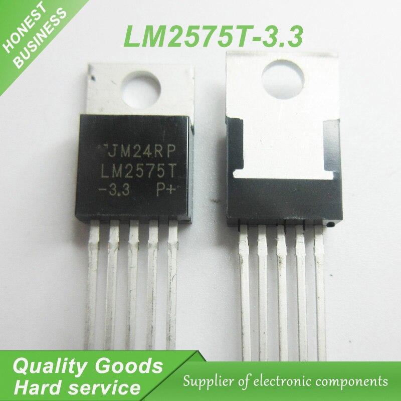 10 шт. Бесплатная доставка Φ LM2575 LM2575T TO-220-5 регуляторы напряжения-Импульсные регуляторы 3,3 В 1A Buck PWM новый оригинальный