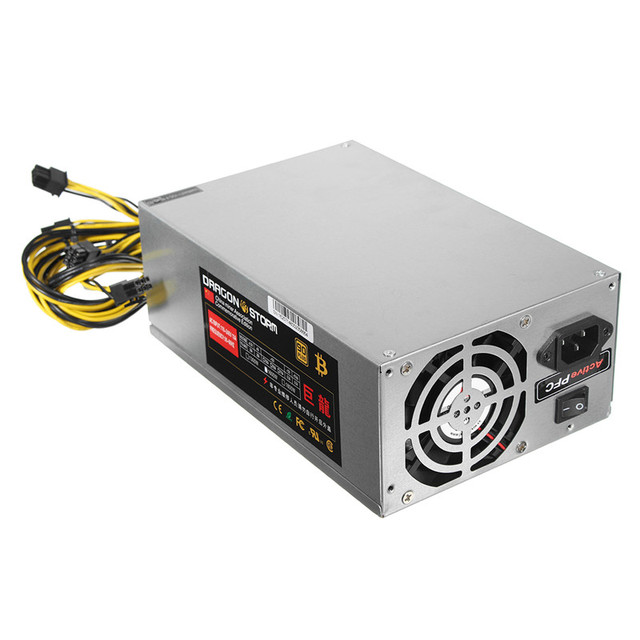 High Quality 6pin*10 1600W ATX Power Supply For ETH S7 S9 for L3 + Mining Machine Power Supply for Eth Bitcoin Miner Antminer
