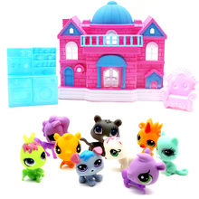 Delights Pet Retreat Sweet House Toy Big Family House Castle For Little Pet Shop Furniture Toys Children Kids Toys Birthday Gift(China)