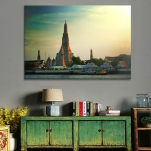 Architecture Asian Temple Painting 1 Piece Style High Quality Canvas Print Type Modern Home Decorative Wall Artwork Poster