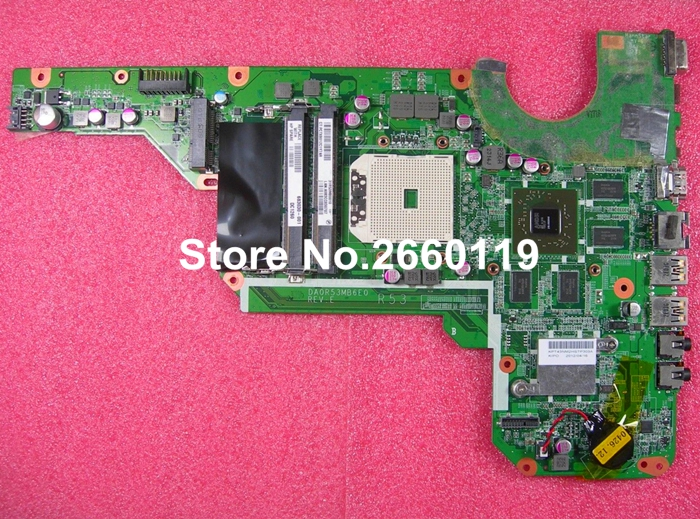 laptop motherboard for HP 683030-001 DA0R53MB6E0 DDR3 system mainboard, fully tested laptop motherboard 605903 001 fit for hp g62 cq62 notebook pc mainboard ddr3