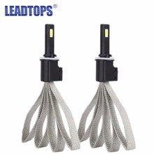 Leadtops супер яркий автомобиль Фары для автомобиля LED H7 H4 H3 H8 H9 H11 9005 9006 H1 880 лампы авто спереди лампы автомобилей Налобные фонарики 6000 К EB