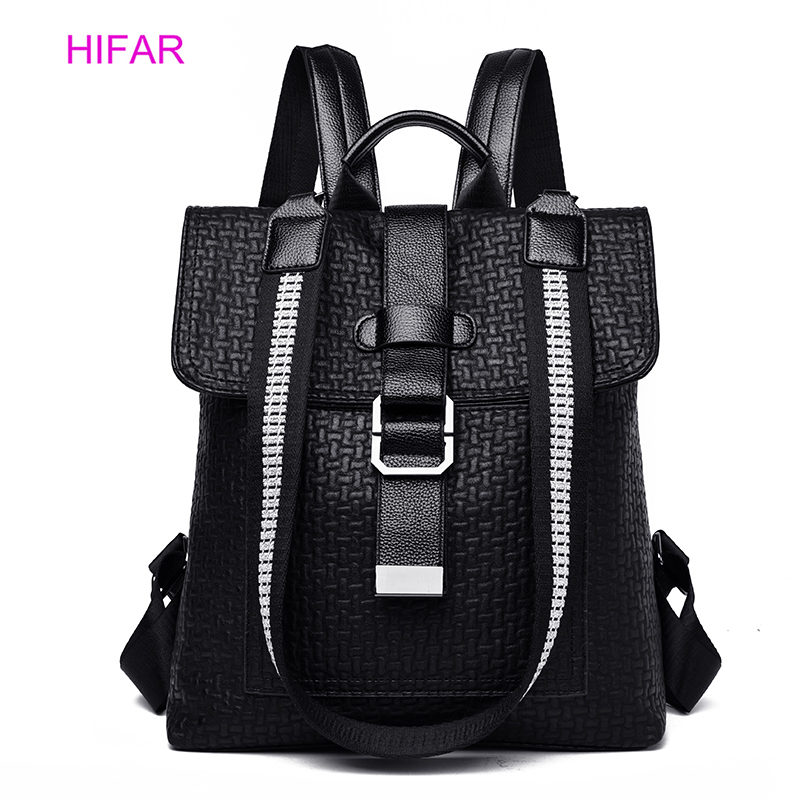 2019 Women's Backpack High Quality PU Leather Fashion Backpacks School Bags For Teenage Girls Anti Theft Backpack Bag For Women