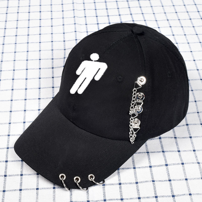 Billie Eilish Hat for Women Men Unisex Print Cartoon and Iron ring   Baseball     Cap   Streetwear Hip Hop Billie Eilish Hats