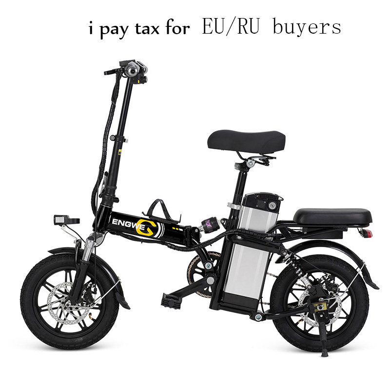 14 inch Aluminum font b Folding b font Electric Bike 48V25A Lithium Battery 400V V with