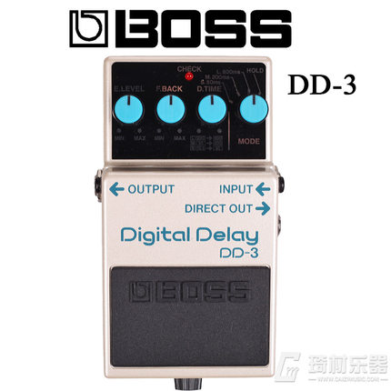 Boss Audio DD 3 Digital Delay Effects Pedal with 3 Time Settings Hold Function and Level