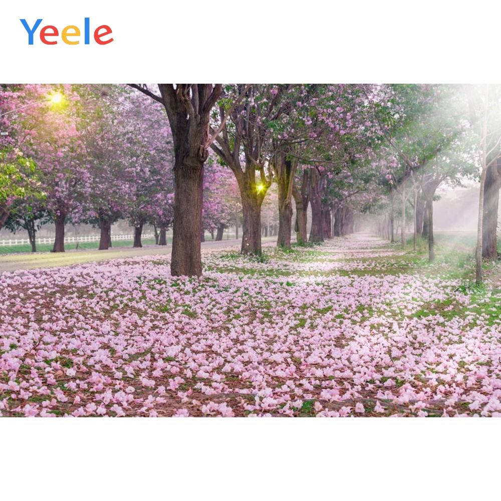 Yeele Sunshine Falling Flowers Scenery Morning Forests Beijingbu Photographic Backdrops Photography Backgrounds For Photo Studio