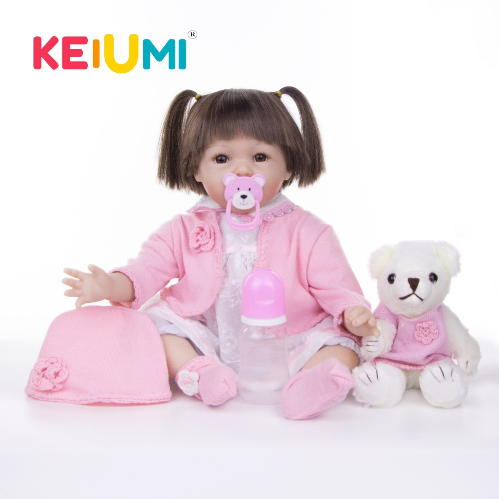 KEIUMI 22 New Design Soft Silicone Baby Reborn Realistic Reborn Baby Doll 55 cm Handmade Girl