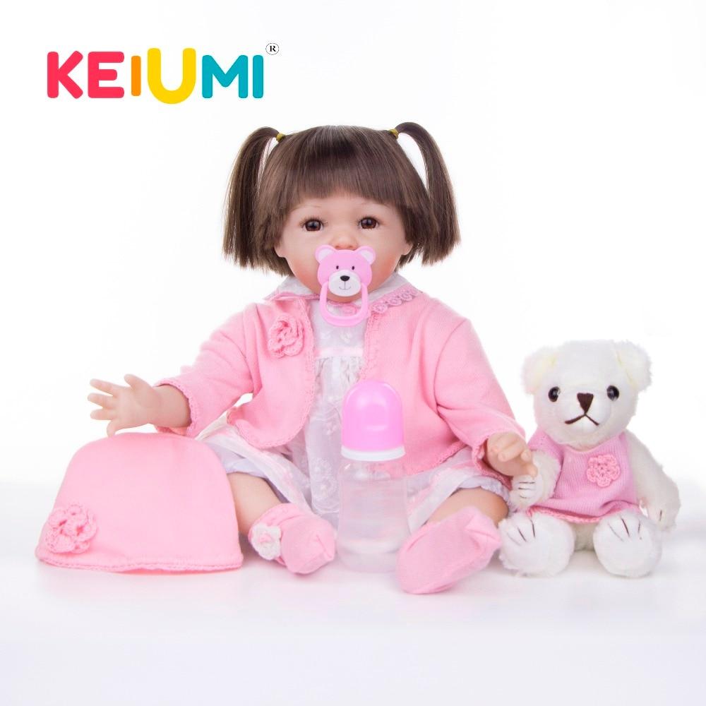 """KEIUMI 22 """"Nuevo diseño de silicona suave bebé Reborn Baby Doll 55 cm hecho a mano chica Playmate para cumpleaños regalos-in Muñecas from Juguetes y pasatiempos    1"""