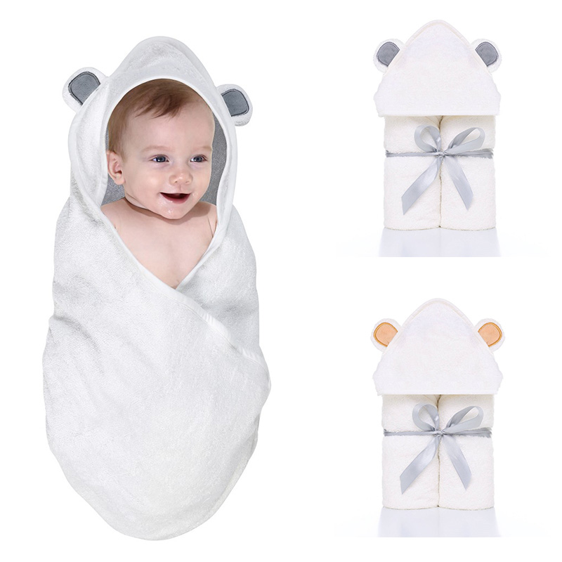 Comfortable Baby Bathrobe Cute Animal  Babies Blanket Kids Hooded Bathrobe Toddler Baby Bath Towel Kids Bath Robe Infant Towel