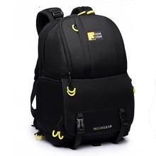 NOVAGEAR 6615 DSLR камера сумка Фото сумка Универсальный большой емкости рюкзак для фототехники для Canon/Nikon камера положить 15,6 «ноутбук