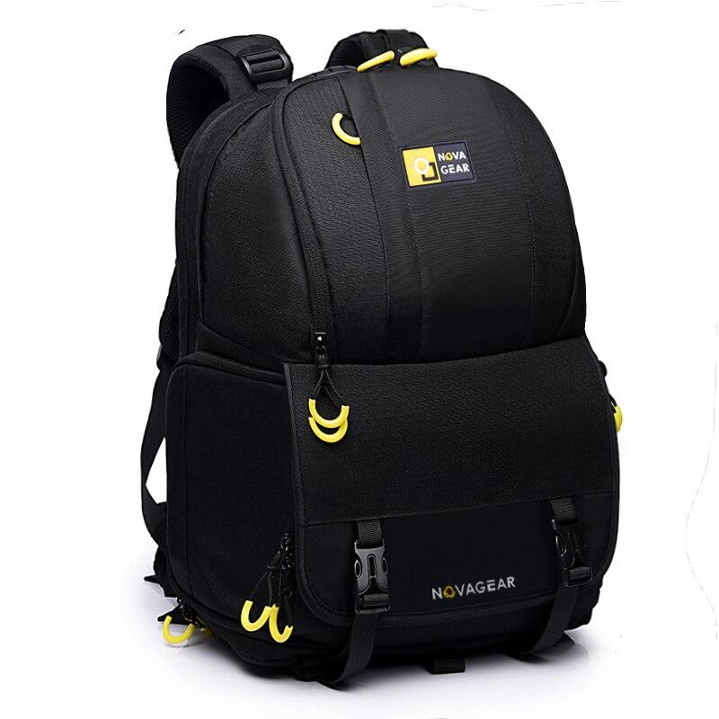 NOVAGEAR 6615 DSLR камера сумка Фото сумка Универсальный Большой ёмкость рюкзак для фототехники для Canon/Nikon положить 15,6 ноутбук