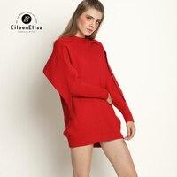 Runway Sweater Women Ruffle Sweater Pullover 2017 Long Sleeve Red Fashion Brand Sweaters