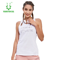2018 Women's fashion new letter printing Tank Tops strap white sling ladies hot Sale Sexy Open Back Design Clothing