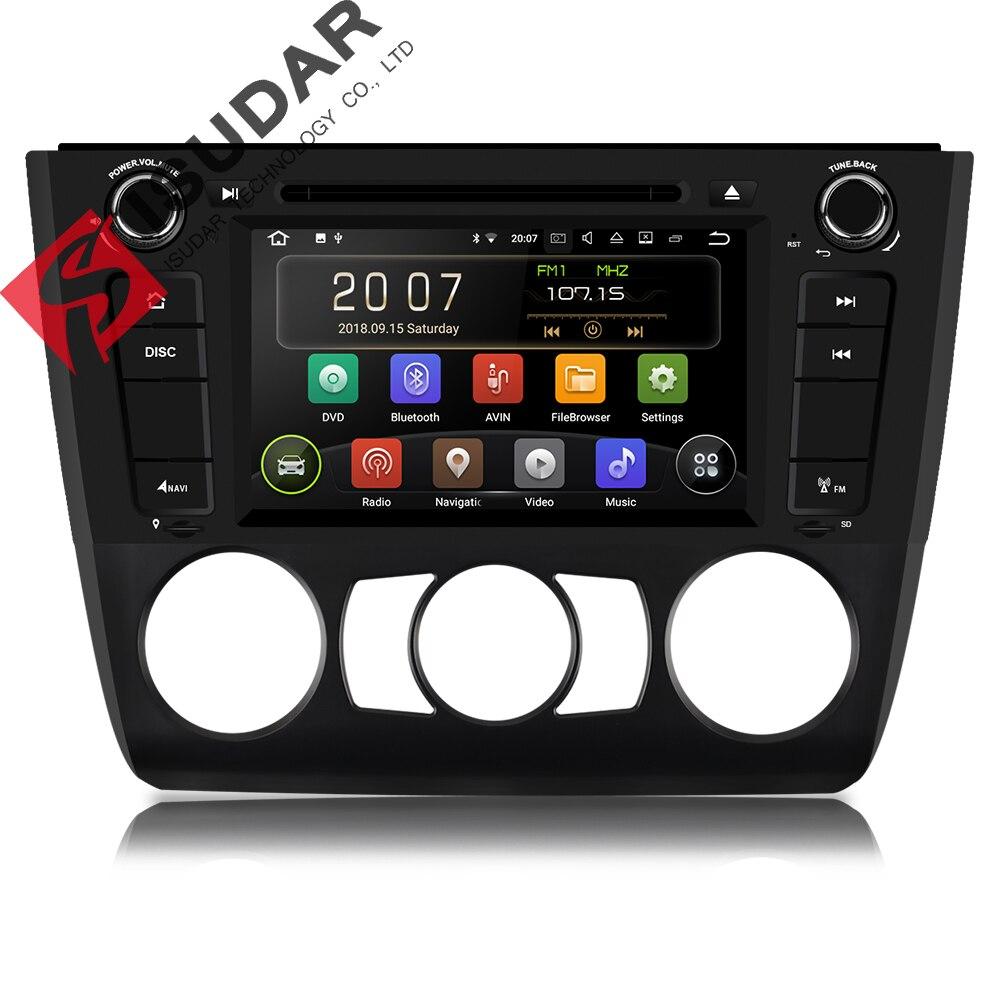 Isudar 1 Din lecteur multimédia Android 8.1 lecteur dvd De Voiture Pour BMW/120i 1 Série E81/E82/E88 GPS 4 Core RAM 2 GB ROM 16 GB Radio FM