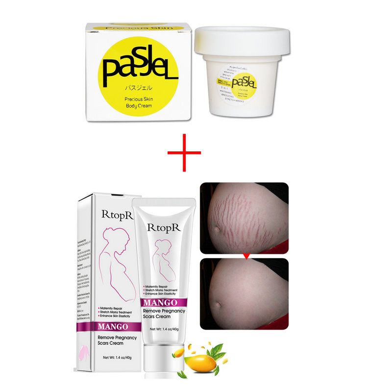 Pasjel And Rtopr Stretch Marks Remover Thailand Maternity Precious Skin Body Cream Effectively Pregnancy Scars Removal Creme