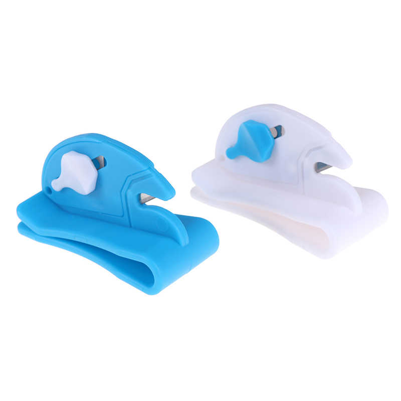 1Pc ballon ruban Cutter ballon outils fixés sur ceinture ballon lame coupe ruban approvisionnement produits bleu et blanc