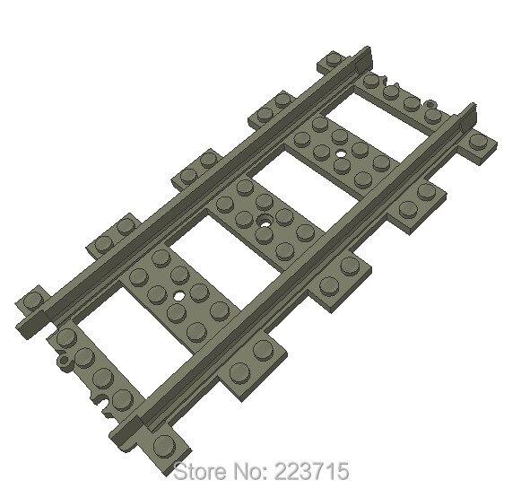 * Железнодорожный Прямой 16 М * DIY просветить блок кирпич часть № 53401, Совместим С Другими Собирает Частиц