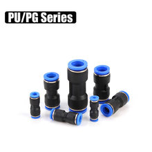 Air Pneumatic Connector PU Straight Through OD 4mm 6mm 8mm 10mm 12mm 14mm 16mm Hose Tube Plastic Quick Connector Fittings(China)