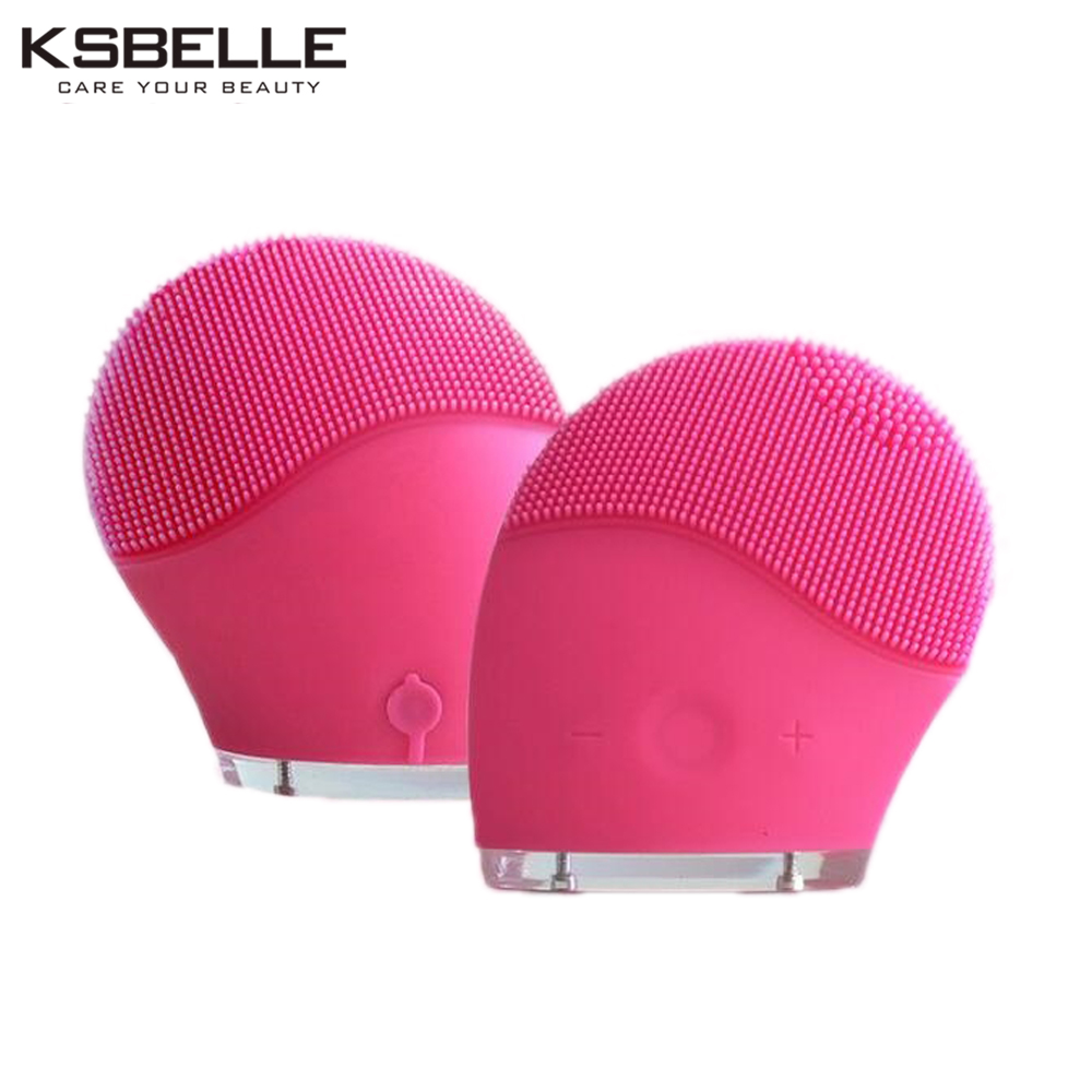 Multifunction Rechargable Electric Facial Cleansing Brush Set Face Body Exfoliating Spa Sonic Skin Care massager Waterproof Pink 5 in 1 electric body foot massage spa facial cleansing brush massager brushes blackhead dead skin care face brush massage relax
