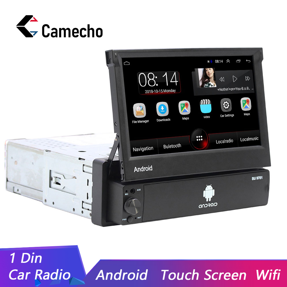 Camecho Universal Autoradio Android 8.1 Car Multimedia Player Car Radio Car Stereo 1DIN 7'' GPS Wifi Bluetooth Auto Radio Stereo