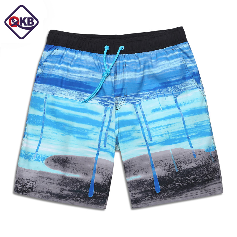 QIKERBONG Men Beach Shorts Board Trunks Male Swimwear Swimsuits Bermuda Casual Active Sweatpants Bottoms Quick Drying Shorts