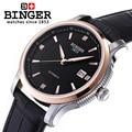 Switzerland BINGER watches men luxury brand Mechanical Wristwatches movement full stainless steel  BG 0405 5 steel stainless steel man steel wristwatch -