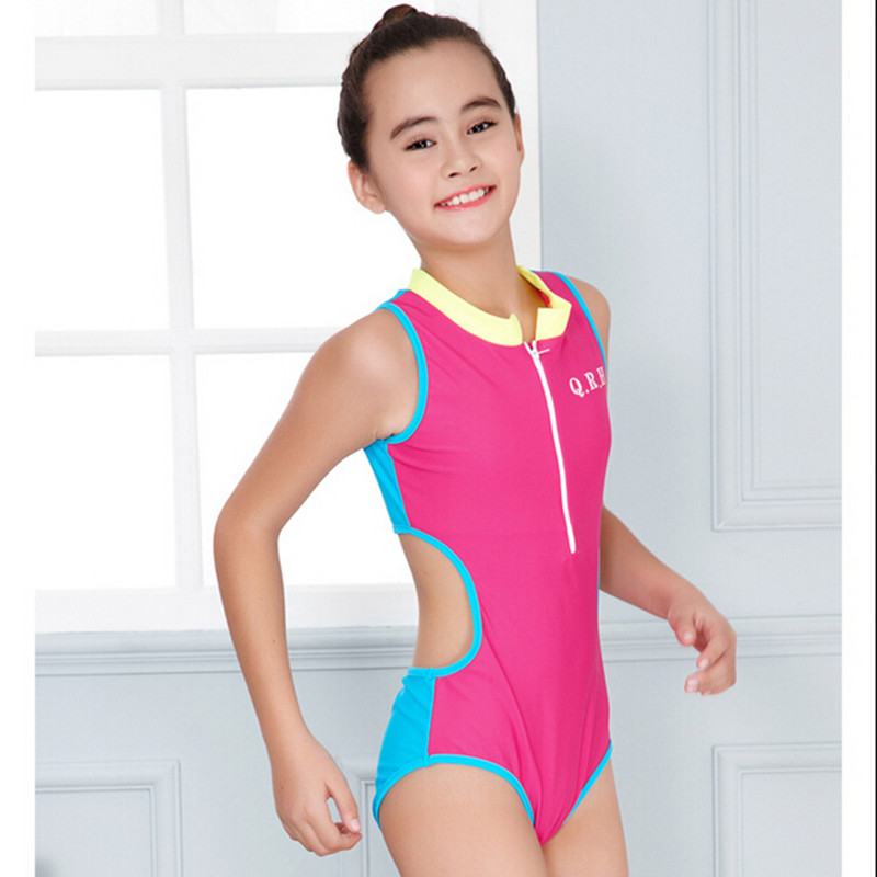 New One Piece Girls Sport Swimming Costume Swimwear Swimsuit Age 8 9 10 11 12 13