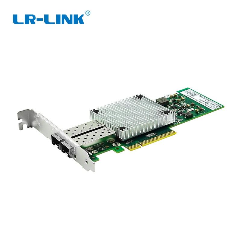 LR-LINK 9802BF-2SFP+ 10Gb Ethernet Card PCI-E Dual Port Fiber Optical Server Adapter Intel 82599 Compatible E10G41BTDA X520-DA2