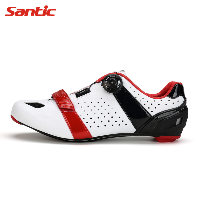 Santic Cycling Shoes Lock Professional Lightweight Racing Mountain Bike Shoes Road MTB Bicycle Shoes Carbon Fiber Cycle Shoes carbon mtb 650b rims stiffer dh bike part 27 5er 35x25mm wide down hill jumping racing ride excellent cycling parts store online