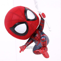 Marvel Spider Man Homecoming The Spiderman Q Version Mini PVC Figures Toys Car Home Decoration Doll 5 Styles 3