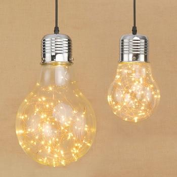 AC110V 220V Creative personality pendant lights iron glass big bulb vintage lamp bar Russian warehouse large pendant lamps