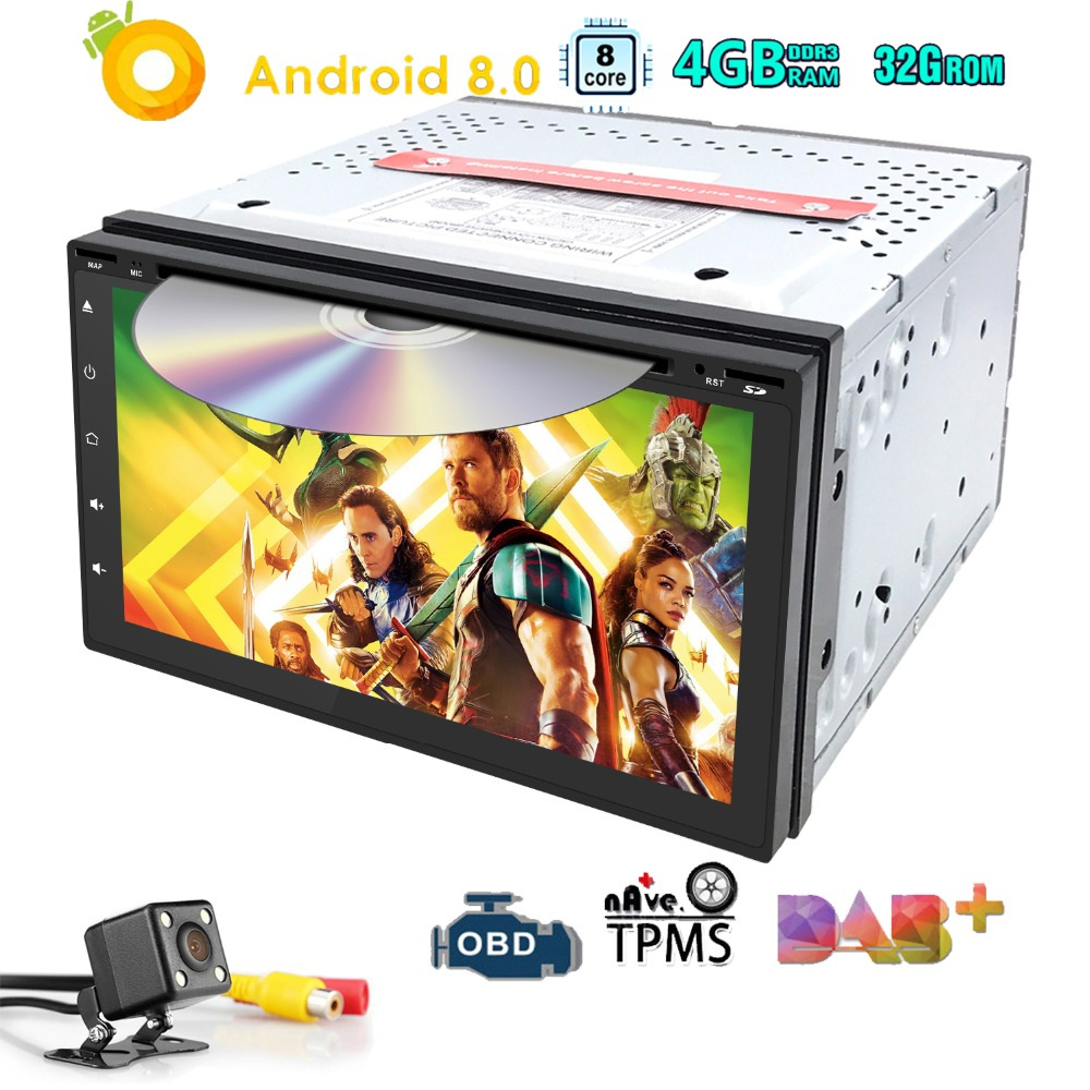 7 Universal 2Din Android8 0 4GB 32GB Car Dvd Player GPS 4GWIFI bluetooth radio 8 OctaCore