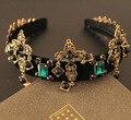 Grande cruz de pedra de gema verde mostrar nobre de luxo cristal mulheres DG Hairjewelry para mulheres 03