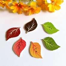 40 шт. милые листья деревянные пуговицы в форме 2 отверстия смешанные Швейные аксессуары деревянные боты для одежды DIY Скрапбукинг