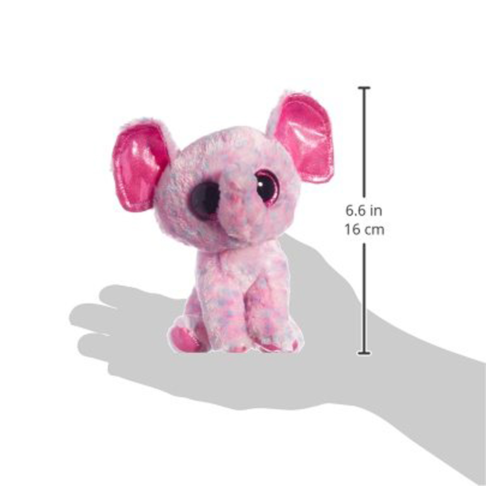 Pyoopeo Ty Beanie Boos 6 15cm Ellie Pink Elephant Plush Regular
