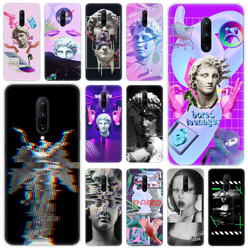 Hot Art David Statue flower Soft Silicone Fashion Transparent Case For font b OnePlus b font