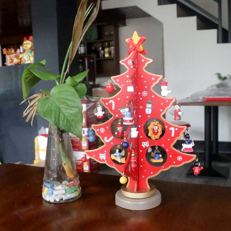 Decorazioni Natalizie Giardino Fai Da Te.Us 11 38 5 Di Sconto 30 Cm Fai Da Te Mini Desktop Di Albero Di Natale Decorazioni Natalizie In Legno Regali Di Buon Natale Manufatti Per