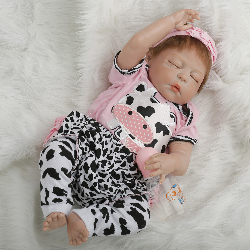 22 inch 55cm baby reborn Silicone dolls, lifelike doll reborn babies toys for girl princess gift brinquedos Sleeping doll 18inch 45cm silicone baby reborn dolls lifelike doll reborn babies toys for girl princess gift brinquedos children s toys