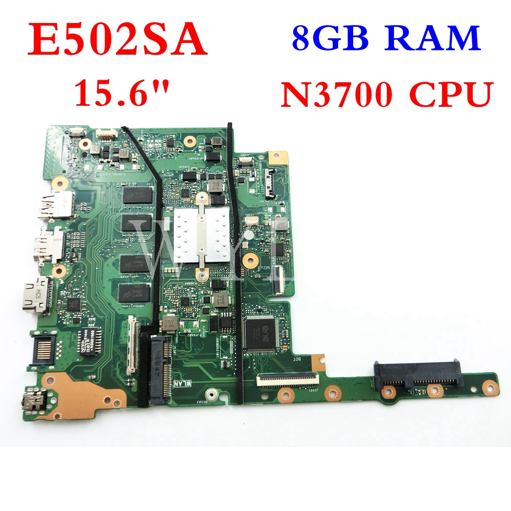 E502SA 8GB RAM N3700 CPU mainboard For ASUS E502SA E502S E402SA E402S laptop motherboard Tested Working 90NB0B70-R00080 E502SA 8GB RAM N3700 CPU mainboard For ASUS E502SA E502S E402SA E402S laptop motherboard Tested Working 90NB0B70-R00080