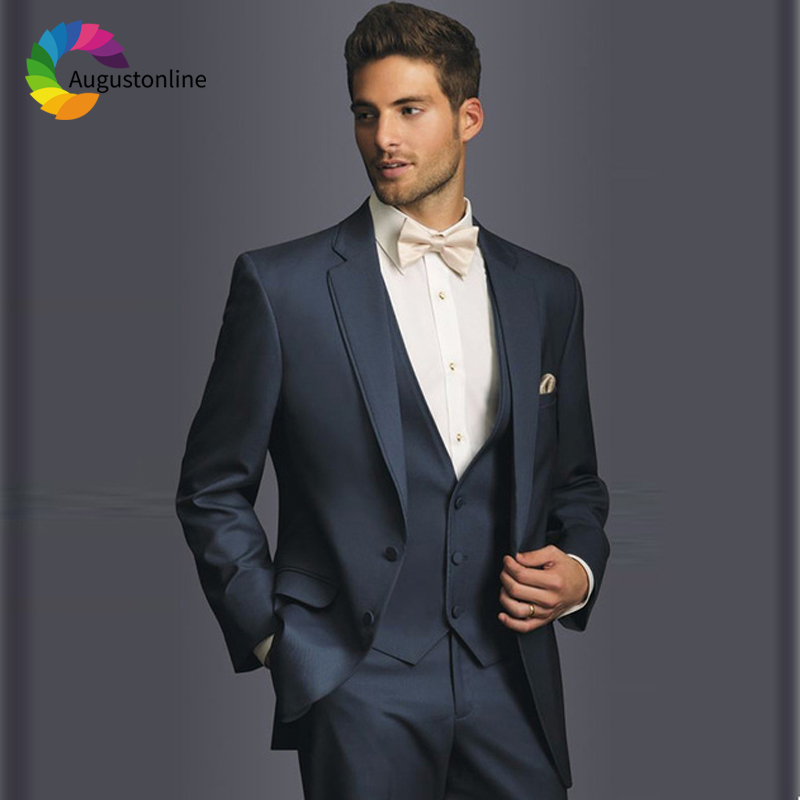 Promenade Homme As Vestiti Uomo Navy Lo Da Only Color 3 Jacket jacekt  Pantaloni Abiti Per custom Blu Costume Nozze Smoking ... bdabfdf72e0