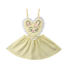 2018 New Summer Fashion Newborn Infant Kids Baby Girl Lace Rabbit Romper Dress Jumpsuit Playsuit Outfits Sleeveless Romper(China)